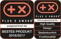Beispiel: Testsiegel Plus X-Award